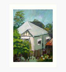 Windsor Backyard Art Print