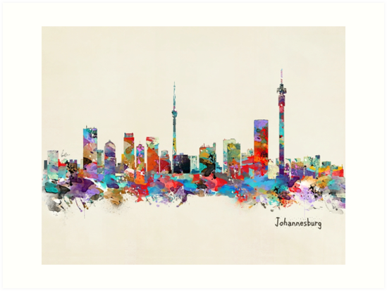 Johannesburg south africa skyline art prints by bri b redbubble johannesburg south africa skyline by bri b thecheapjerseys Images