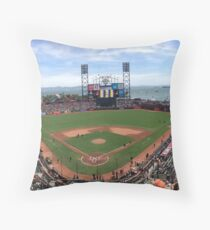 AT&T Park SF Giants Panorama Throw Pillow