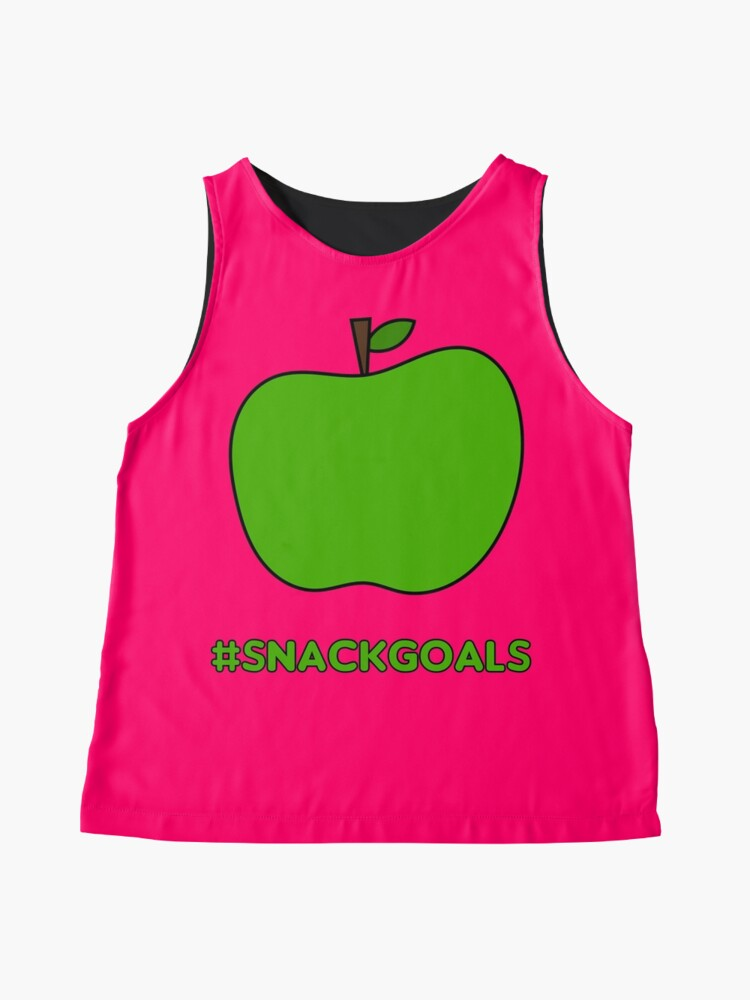 Alternate view of Healthy Snack Goals - Apple Sleeveless Top