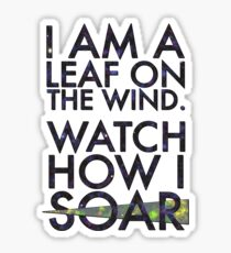 A Leaf on the Wind Sticker