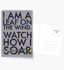A Leaf on the Wind Postcards