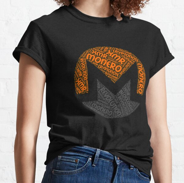 Monero XMR Revolution Block Chain CryptoNote Word  Classic T-Shirt