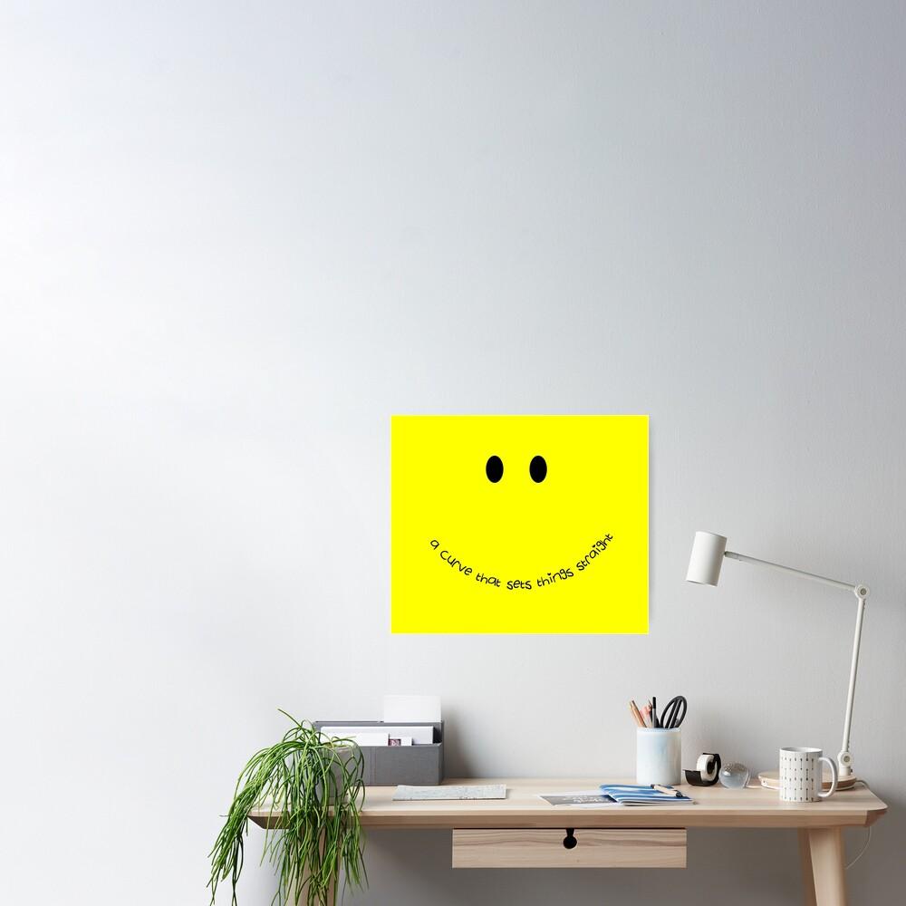 Curvy Smile Poster
