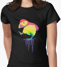 Happy bird Womens Fitted T-Shirt