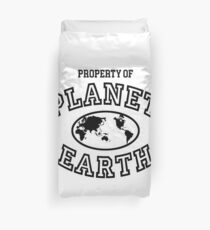 Property of Planet Earth Duvet Cover