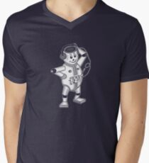 retro robot  Men's V-Neck T-Shirt