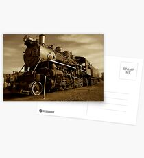 Sepia Train Postcards