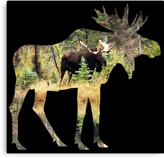 Moose in silhouette by MooseMan