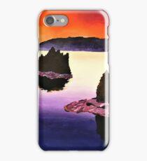 Purple Sunset Landscape Painting iPhone Case/Skin