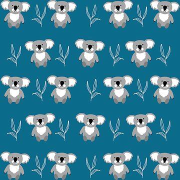 Wild Koalas - Dark Blue by TheIntrepidSoul
