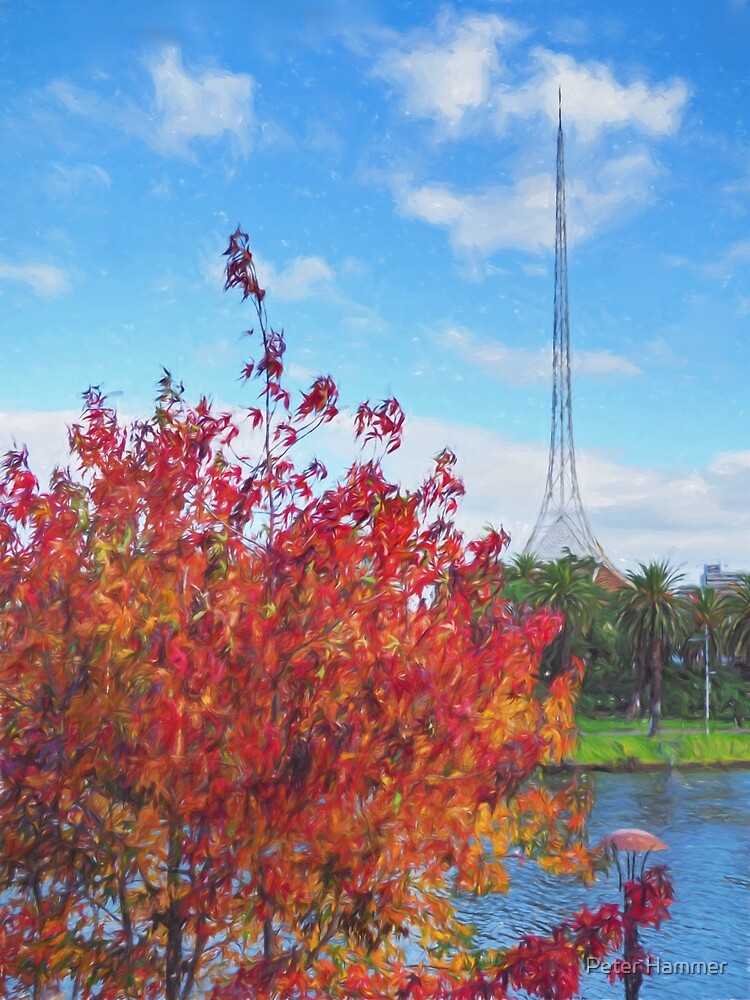 Autumn and the Art Centre Spire by Peter Hammer