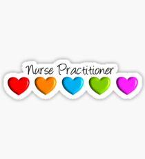 Nurse Practitioner Hearts Sticker