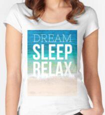 Dream Sleep Relax Women's Fitted Scoop T-Shirt