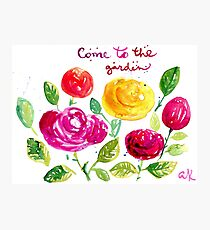 Come to the garden Photographic Print