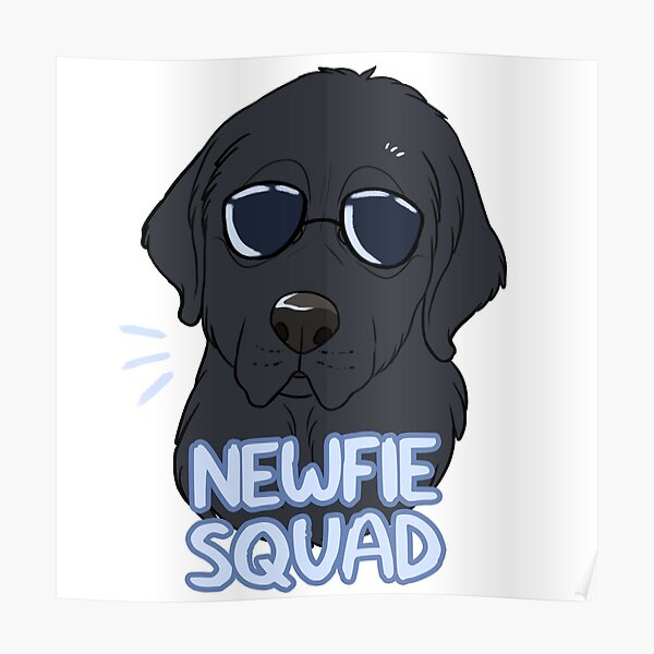 NEWFIE SQUAD (black) Poster