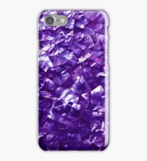 Natural Shimmering Purple Amethyst Mother of Pearl Nacre iPhone Case/Skin