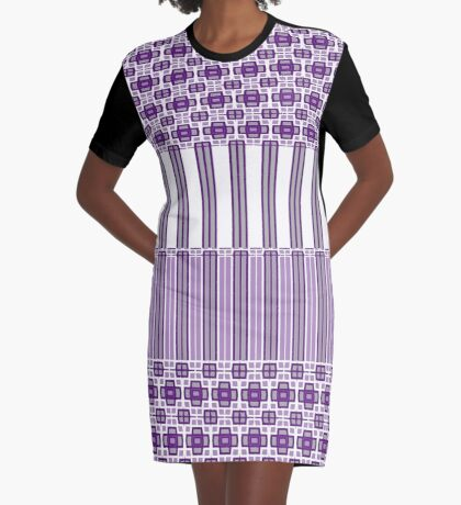 Beautiful Purple Line Range Graphic T-Shirt Dress