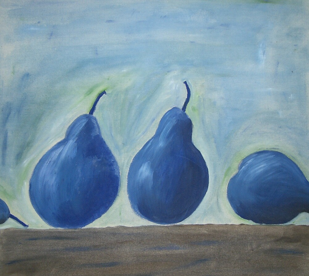 Blue Pears by Ngariec