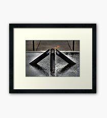 Anzac Flame Framed Print