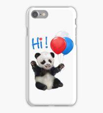 Hi from Baby Panda iPhone Case/Skin