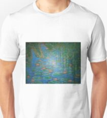 Waterlilies Under The Weeping Willow. T-Shirt
