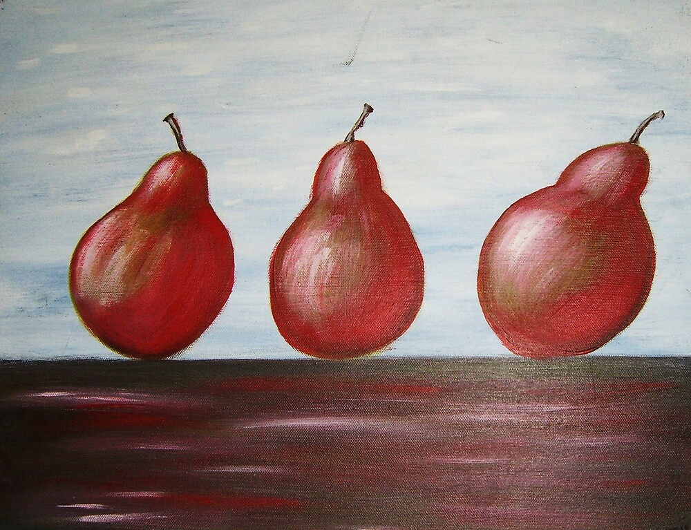 Red Pears by Ngariec