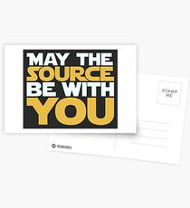 May The Source Be With You Postcards