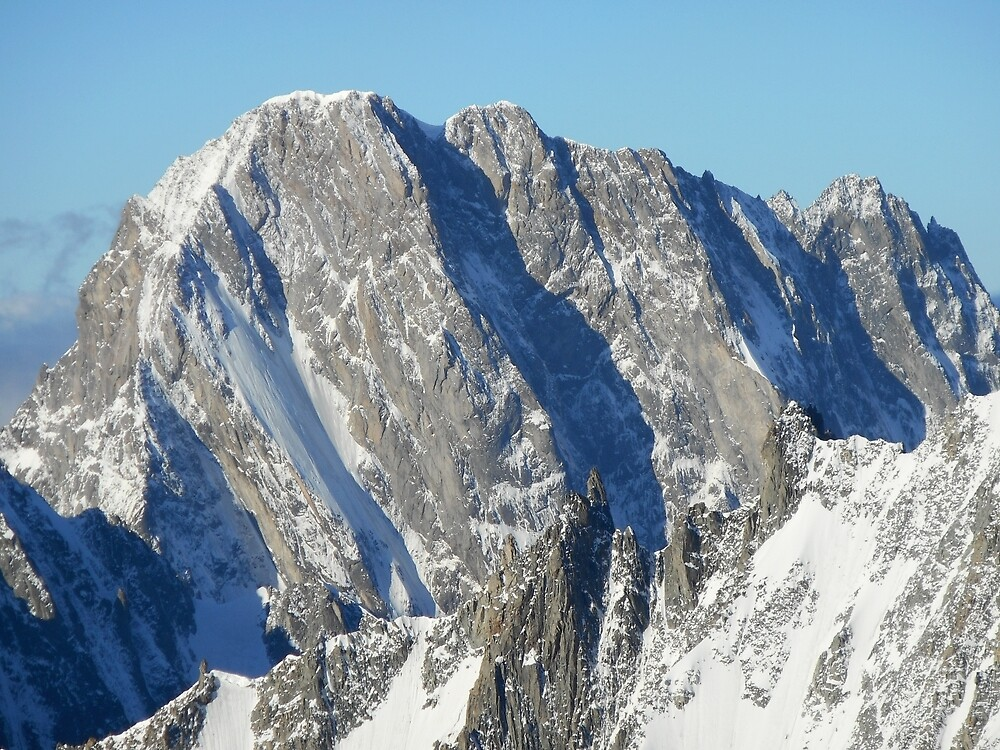 North face of Grandes Jorasses (Alps, France) by Marion Joncheres