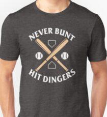 Never Bunt - Hit Dingers Baseball Shirts T-Shirt