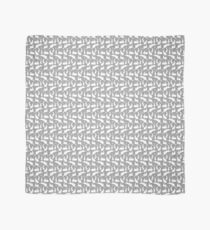 Rabbit Silhouette Pattern | Grey and White Scarf