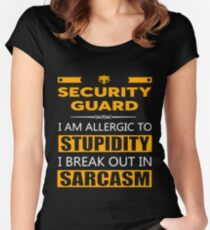 SECURITY GUARD - SARCASM TEES AND HOODIE Women's Fitted Scoop T-Shirt