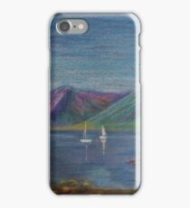 Loch Leven, Oil Pastel Painting iPhone Case/Skin