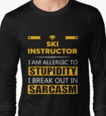 SKI INSTRUCTOR - SARCASM TEES AND HOODIE Long Sleeve T-Shirt