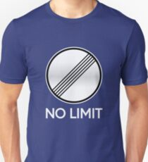 Unlimited Speed Sign Unisex T-Shirt