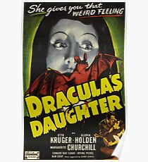 Dracula´s Daughter, vintage horror movie poster Poster