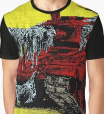 Pop Machine No. 1, half-tone yellow and red army battle tank Graphic T-Shirt