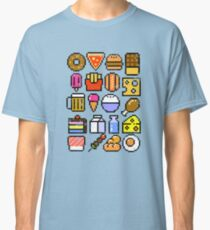 8 bit Foodie v2 Distressed Classic T-Shirt