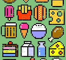 8 bit Foodie v2 by artlahdesigns