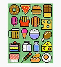 8 bit Foodie v2 Photographic Print
