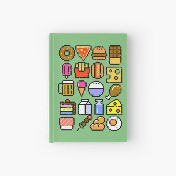 8 bit Foodie v2 Distressed Hardcover Journal