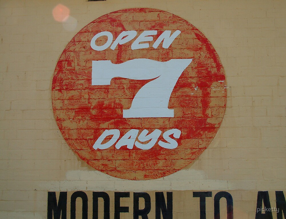 open 7 days by picketty