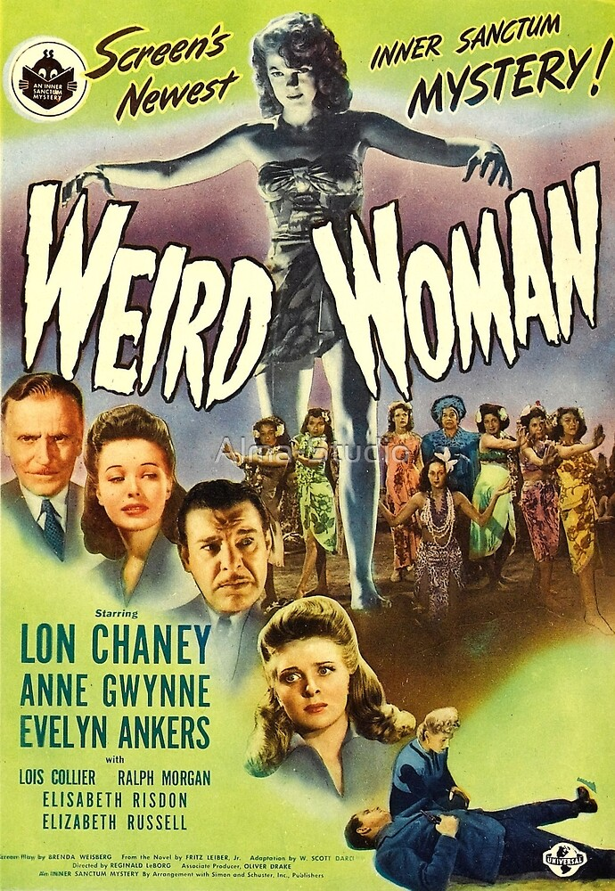 Weird Woman, vintage horror movie poster by Alma-Studio