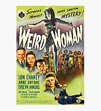 Weird Woman, vintage horror movie poster Photographic Print