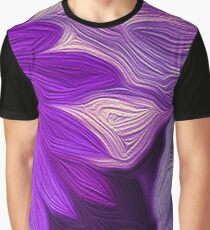 Purple Floral Dark Graphic T-Shirt