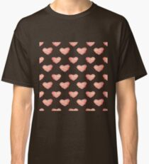 watercolor  red cactus in the shape of the heart pattern Classic T-Shirt