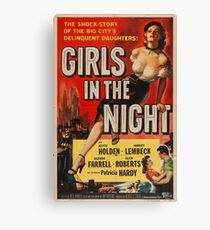 Girls in the Night, vintage movie poster Canvas Print
