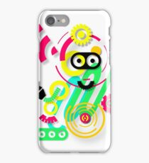 illustration. Hipster. Hand drawn Crazy doodle cute.  iPhone Case/Skin