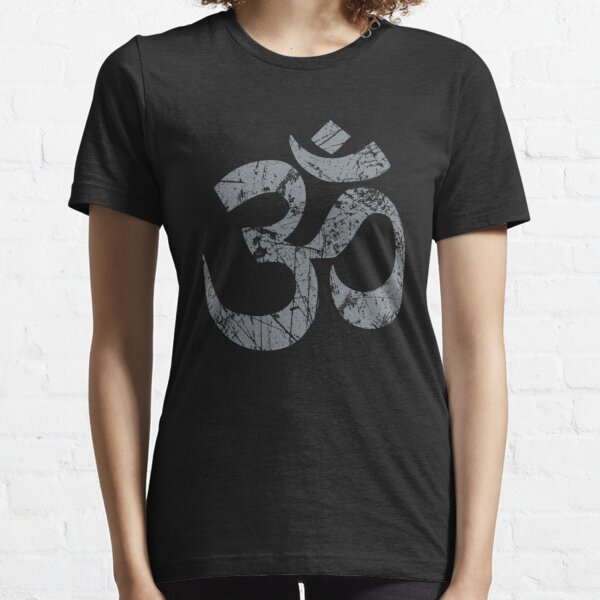 OM Yoga Spiritual Symbol in Distressed Style Essential T-Shirt