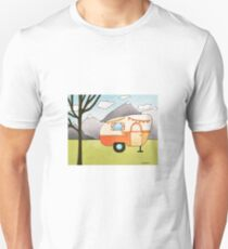 Whimsical Art RV Camper Outdoor Adventure Unisex T-Shirt